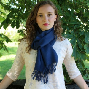Denim blue alpaca scarf