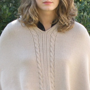Sand twisted alpaca poncho