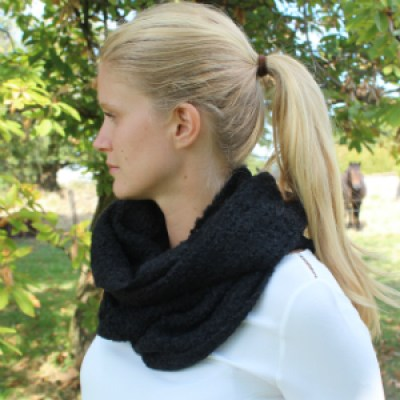 Anna snood alpaga noir
