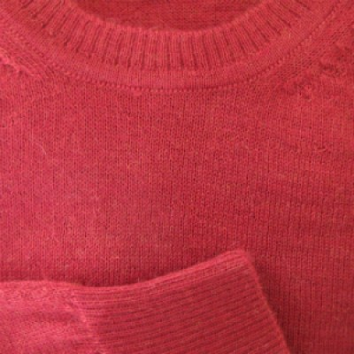 pull alpaga homme rouge col rond