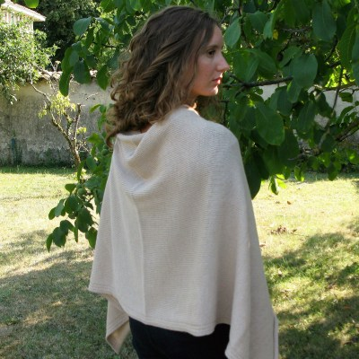 grand poncho alpaga sable