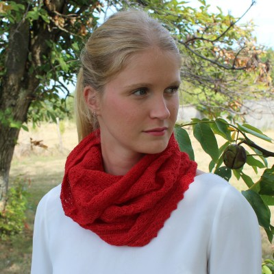 Cécilia snood alpaga rouge